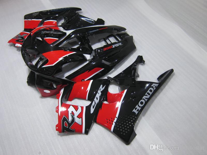 Hot sale Fairing kit for Honda CBR 900RR 1996 1997 red black fairings set for CBR900RR 96 97 OT14