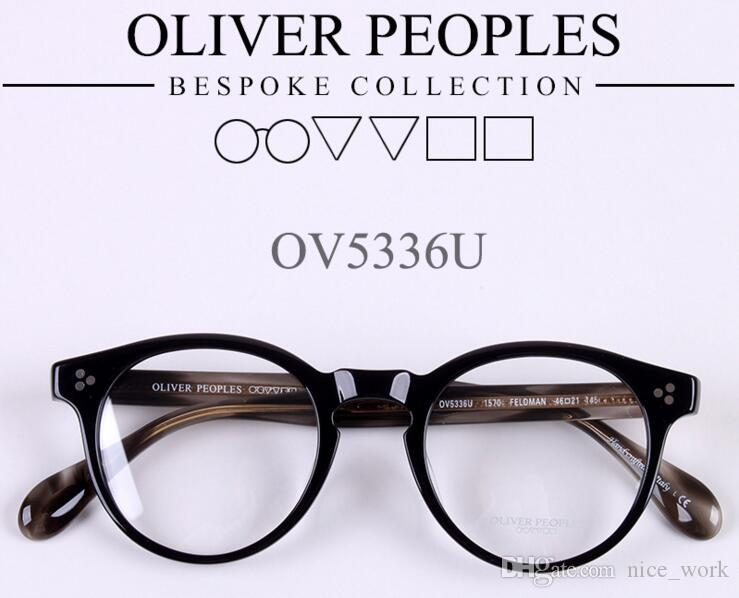 2aac9c6b60 2019 Brand Glasses New Optical Glasses Frame Oliver Peoples FELDMAN OV5336U  Eyeglasses Gregory Peck For Women Men Eyewear Frames Oculos De Grau From ...