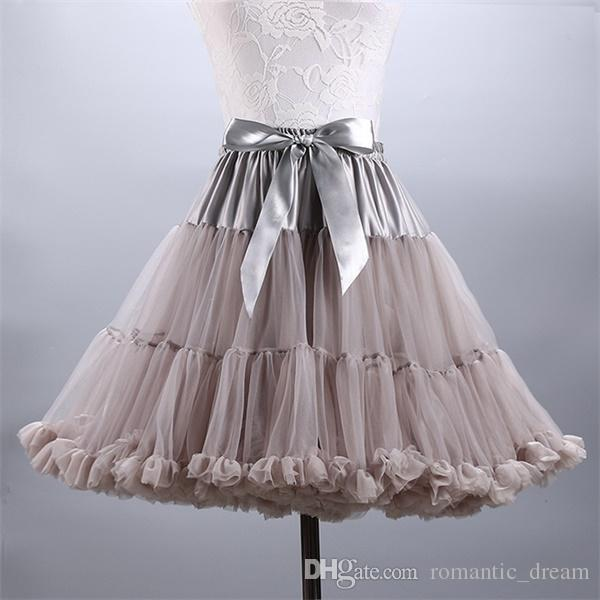 2017 New Arrival Petticoats Wedding Bridal Crinoline Lady Girls Underskirt for Party White Blue Black Ballet Dance Skirt Tutu