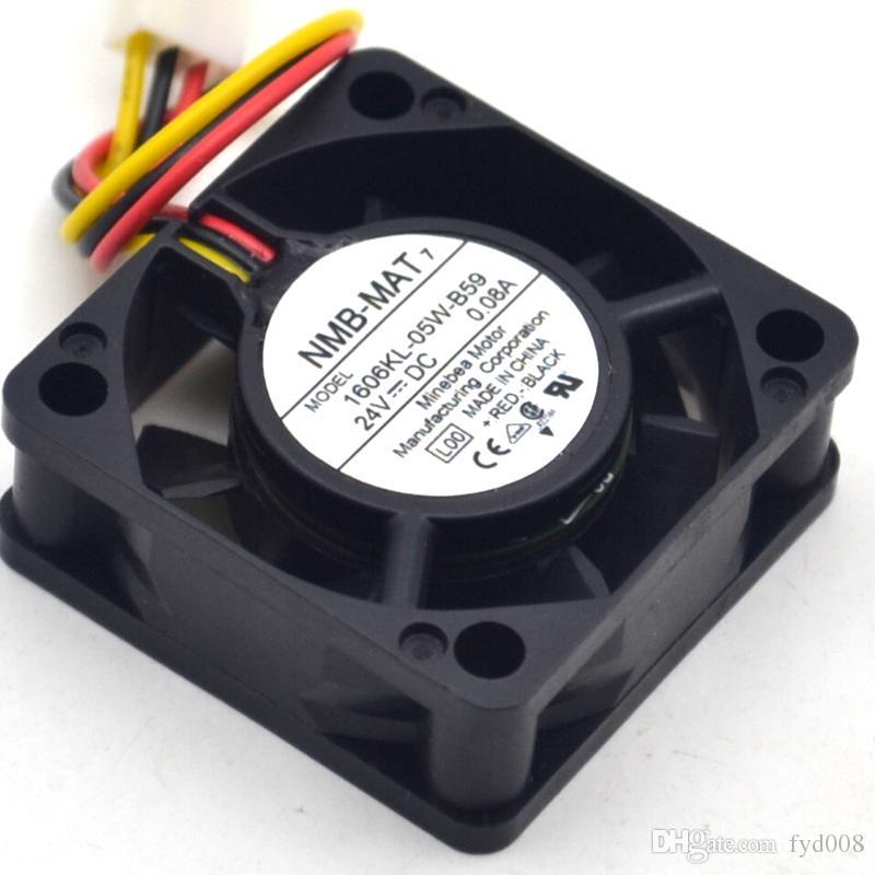 El nuevo 1606KL-05W-B59 40 15 4CM 24V 0.08A ventilador de tres líneas para NMB-MAT 40 * 40 * 15mm