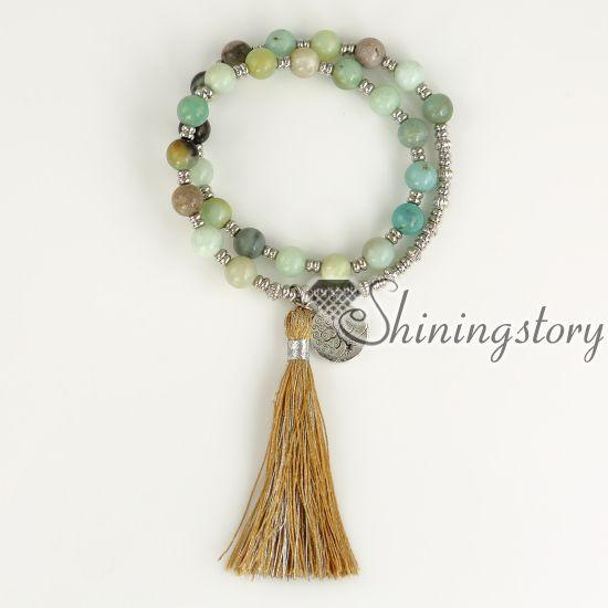 árbol de la vida mala pulsera brazalete de perlas de joyería de yoga Mala caja de joyería de curación para mujer Yoga Karma pulsera