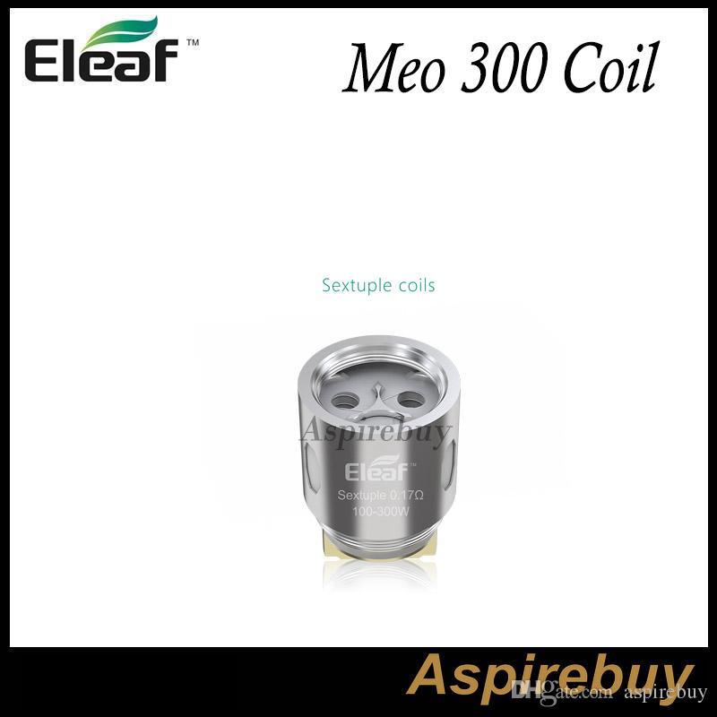 Eleaf MELO 300 Bobinler ES Sextuple-0.17ohm Başkanı Cam Tüp 3.5 ML 6.5 ML için Melo için 300 Alt-Ohm Tankı 100-300 W 100% Orijinal