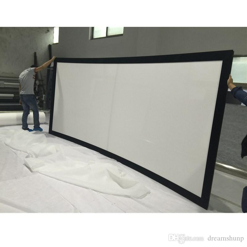 Hd 106 Inch 2.35:1 Aluminum Cinema Curved Fixed Frame Projector ...