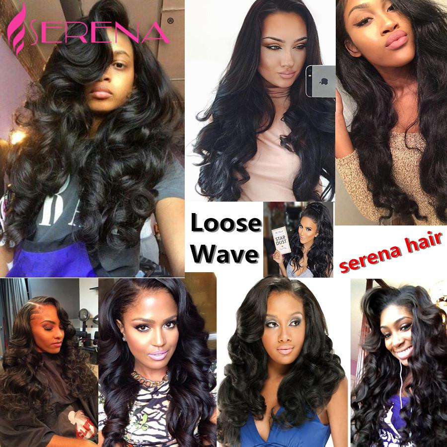 360 Lace Frontal Pre Plucked Loose Wave With Closure Body Wave With Closure Brazilian Water Wave With Closure 360 Hair Weave
