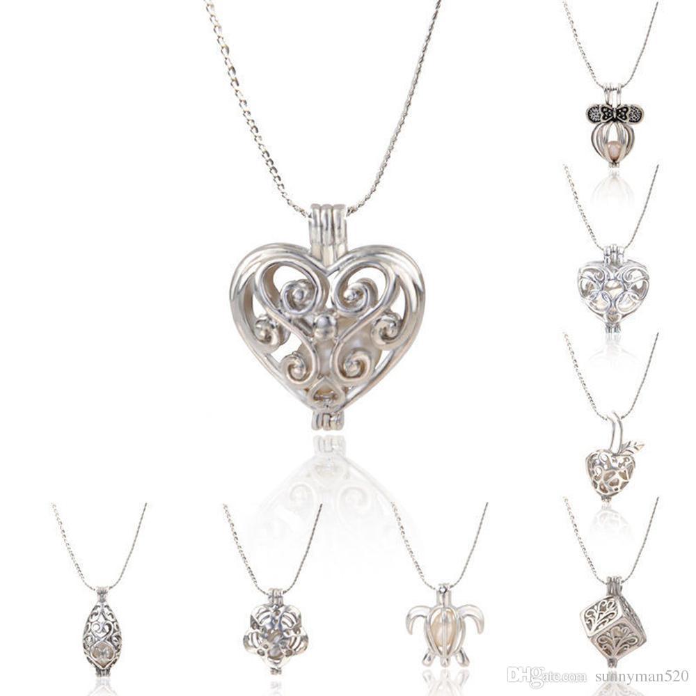 venta al por mayor la nueva joyera pendiente plateada plata hermosa de la gota de la ostra de la perla natural del amor de las nuevas mujeres de la manera