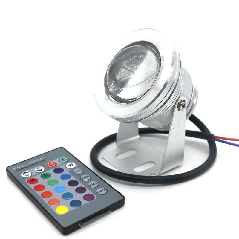 Edison2011 16 Renkler 10 W 12 V RGB LED Sualtı Çeşmesi Işık 1000LM Yüzme Havuzu Gölet Balık Tankı Akvaryum LED Işık Lambası