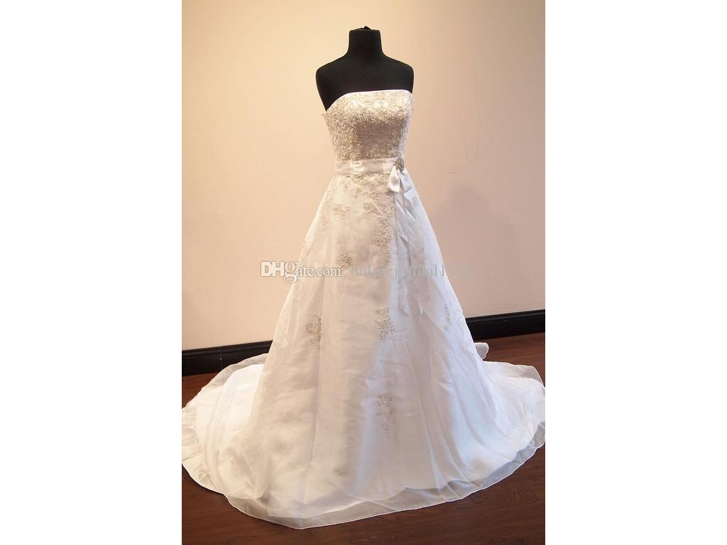 Real Photos A-Line OrganzA Appliques Ribbon Sash Strapless Beaded with Jacket Bridal Gown Wedding Dress Vestido De Noiva Robe De Marriage