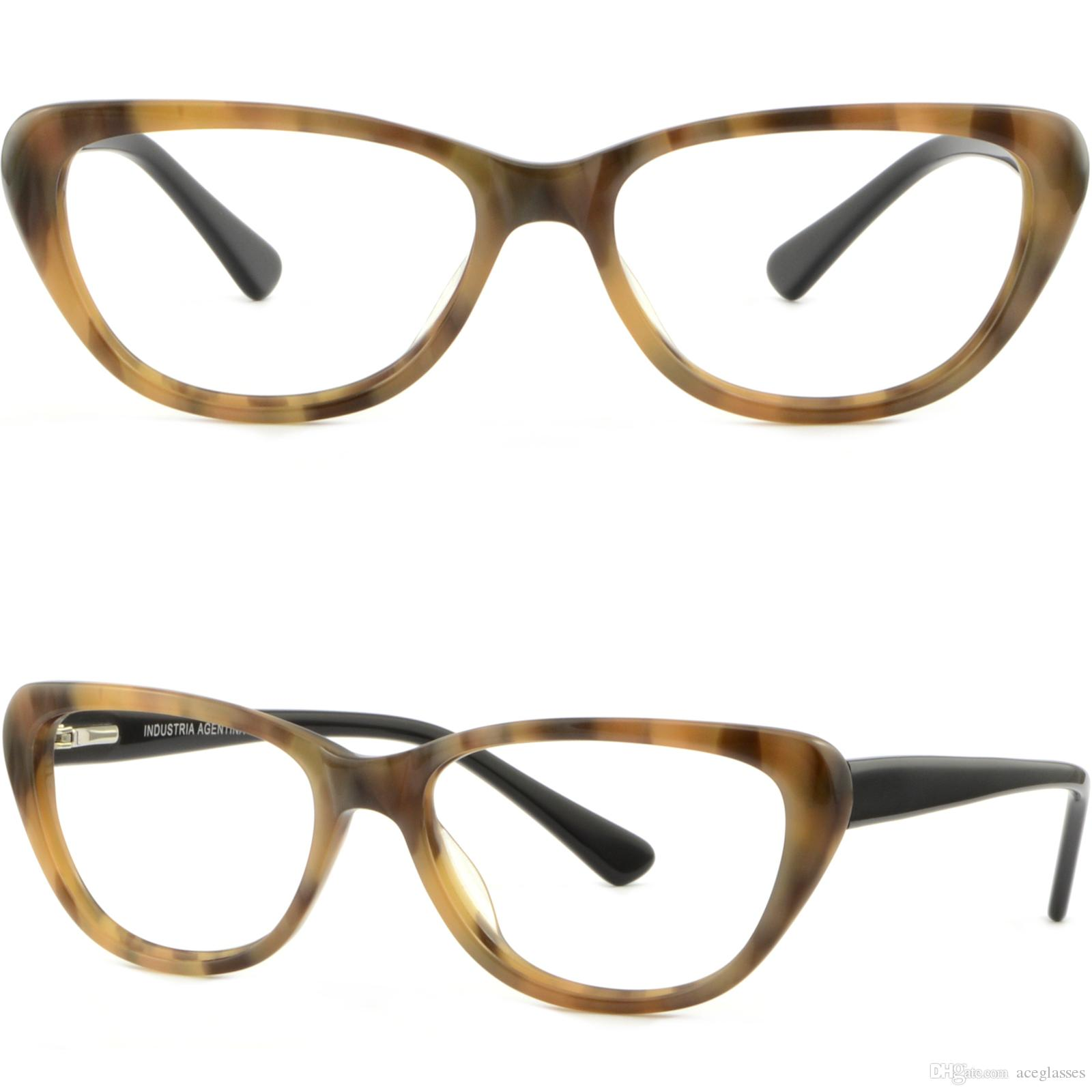 54296e92a6 Women Cateye Cat Eye Acetate Frame Spring Hinge Prescription Glasses Brown  Amber Glasses Frame Online with  23.9 Piece on Aceglasses s Store