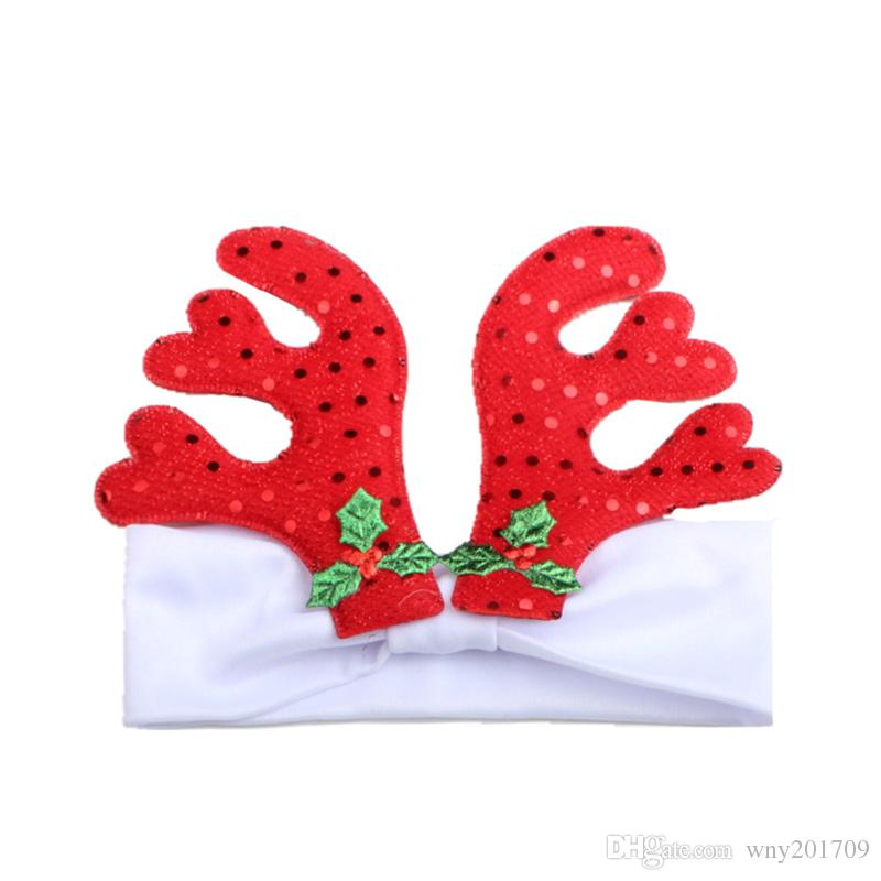 Hot Sale Small Antlers Headband for Kids Christmas Party Dress Up Headbands for Baby Girl Toddler Headwear Hair Accessories Hair Bow