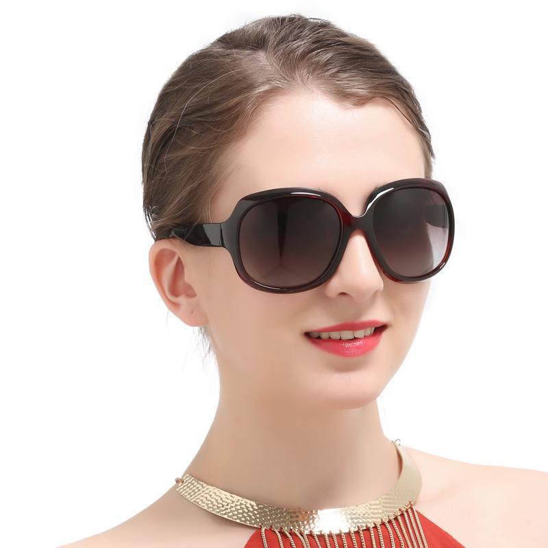e2d2f34006952 Compre Moda Oversize Big Frame Óculos De Sol Das Mulheres Do Vintage Retro  Luxo Lady Eyewear Designer De Marca Feminino Oculos Uv400 Polarizada Óculos  De ...