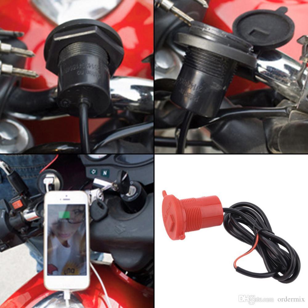 USB motocicleta teléfono móvil fuente de alimentación cargador impermeable puerto Socket 12V venta caliente