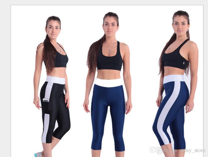 bcc0782c628a97 Women s Side Pocket Leggings.Joggers Fitness Leggins.Mid-Calf ...