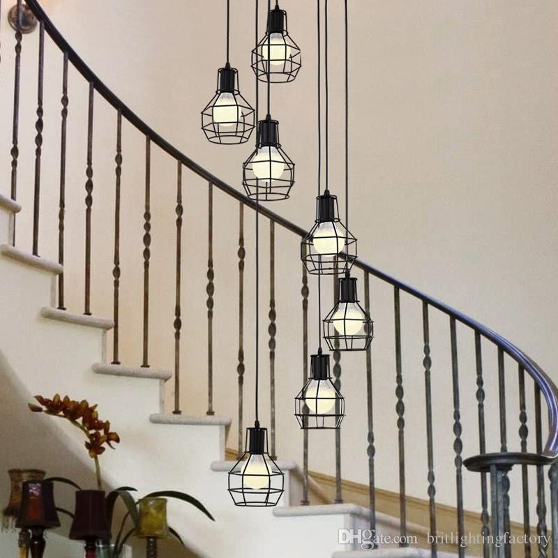 american countryside big living room lamps and lanterns simple iron art bedroom dining room lamp european style countryside study stair lamp pendant - Big Living Room Lamps