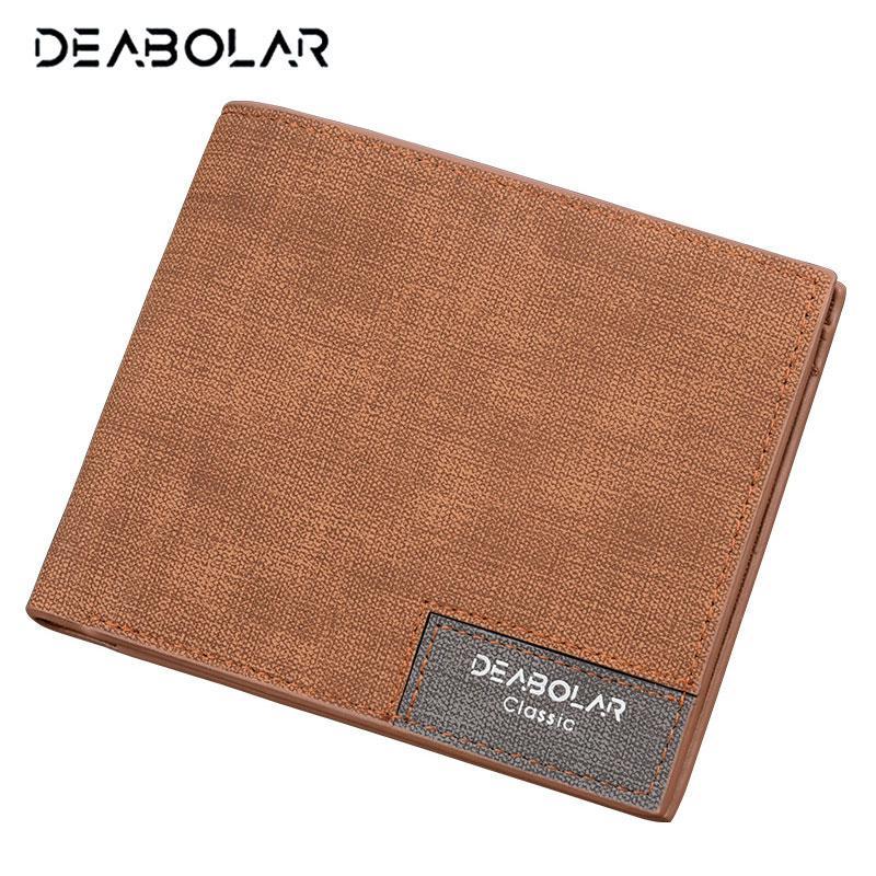 e30a13910e Wholesale Hot Promotion!! DEABOLAR Brand 2017 Vintage Man Wallet Male Slim Leather  Wallets Thin Money Dollar Card Holder Purses For Men Luxury Wallets Flat ...