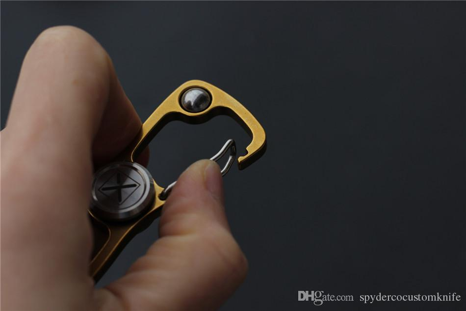 Hot Toy fidget spinners Hand Spinner Fidget Toy 8 clip finger spinner with ball bearing 420 steel handle outdoor EDC tool fidget