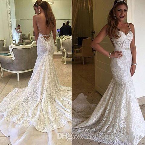 Gorgeous berta mermaid wedding dresses 2017 sexy backless bridal gorgeous berta mermaid wedding dresses 2017 sexy backless bridal gowns spaghetti straps full lace wedding dress vestidos de noivas berta wedding dresses junglespirit Choice Image