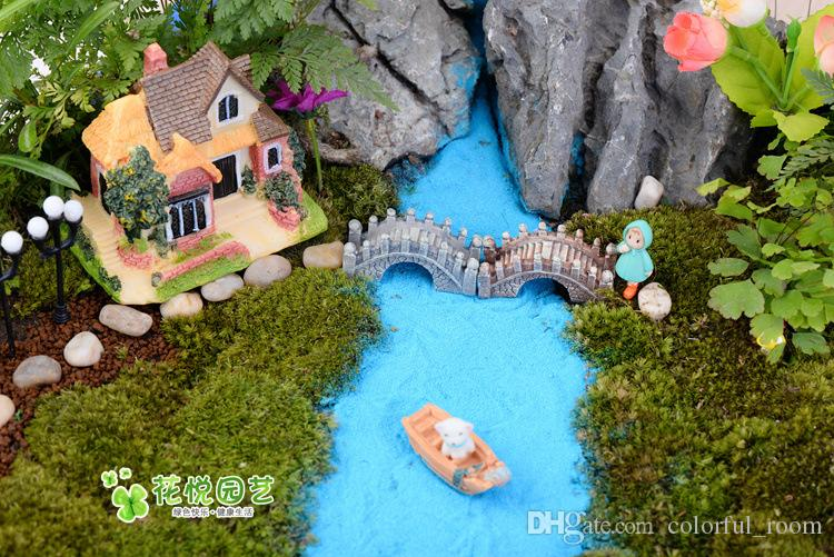 artificial bridges Ornaments fairy garden miniatures gnome moss terrarium decor resin crafts bonsai home decor for DIY Zakka