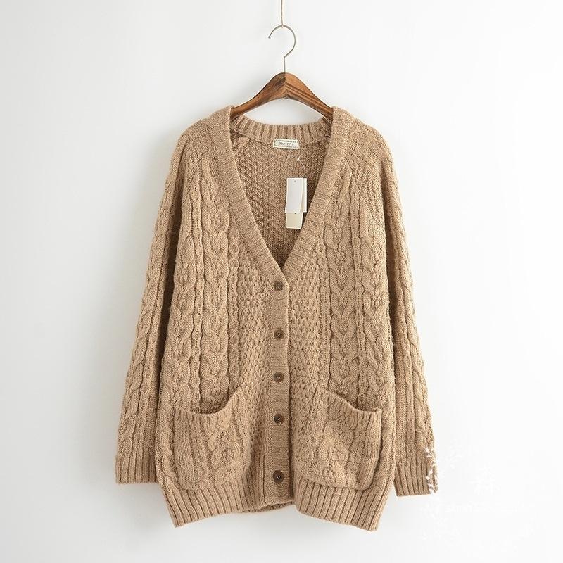 ae49614cf51 2019 Wholesale Japanese Mori Girl Vintage Harajuku Hippie Boho Bohemian  Retro V Neck Mohair Chandail Femme Women Autumn Winter Sweater Cardig From  ...