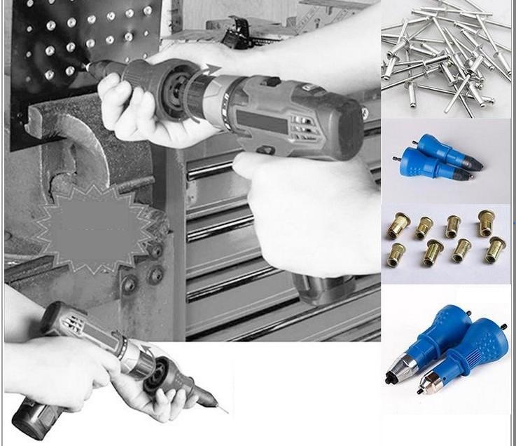 Taiwan Labear Elektrische Nietpistole Nietwerkzeug Nietenbohradapter einsetzen Nagelwerkzeug 2.4-4.8mm T03020-1