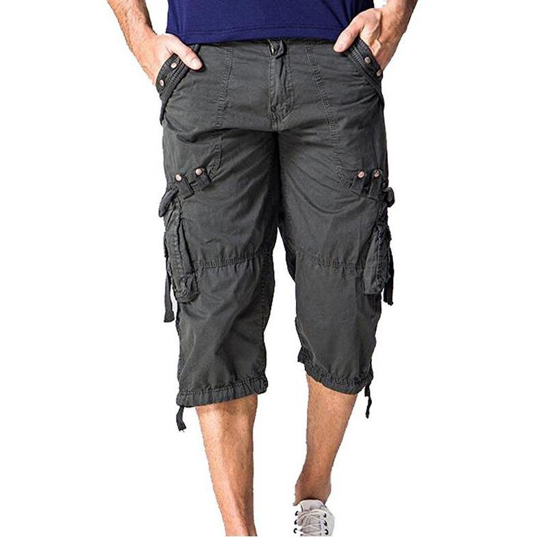 3/4 cargo shorts for mens