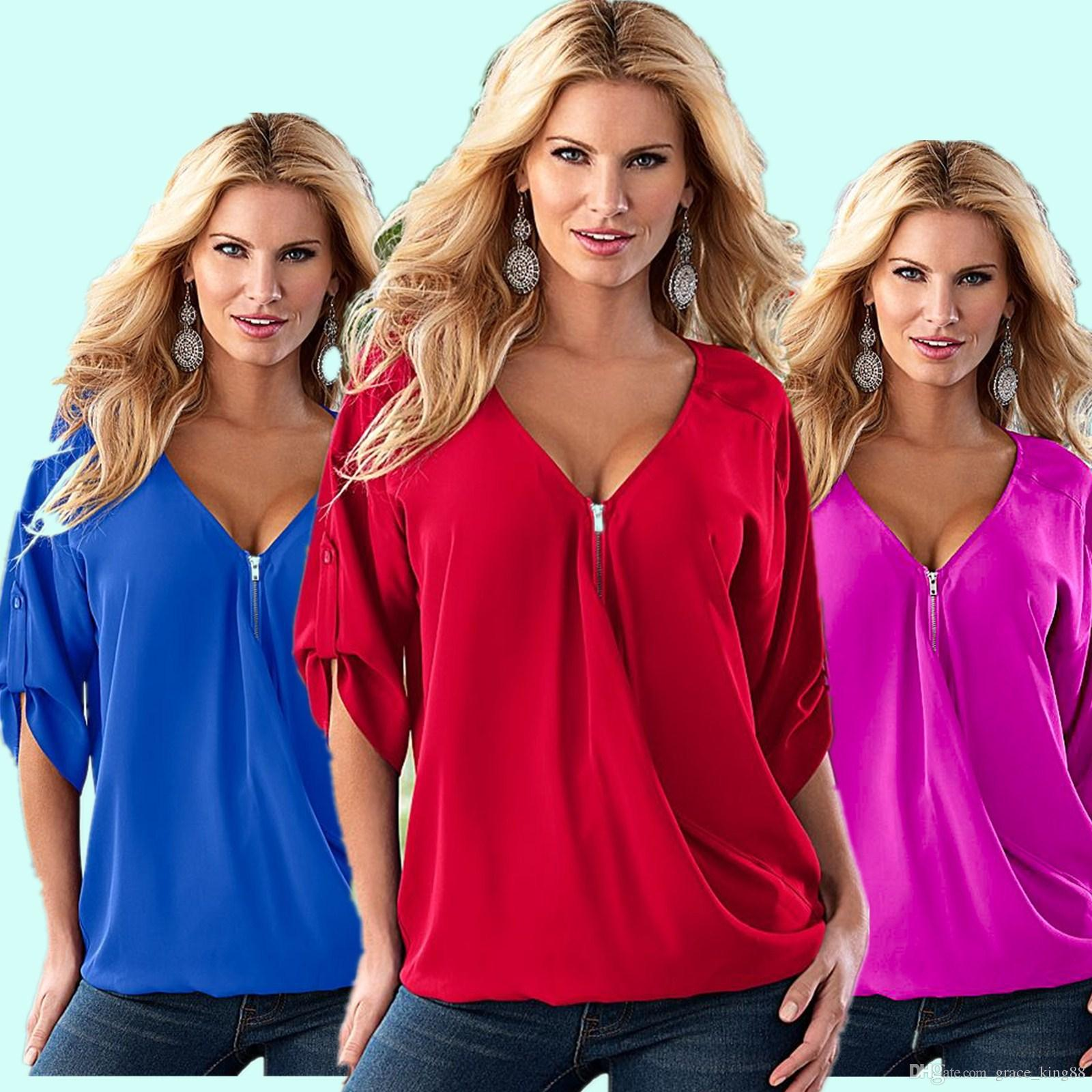 2019 Women S Plus Size Blouses Shirt 5xl S Fashion 1 2 Sleeve