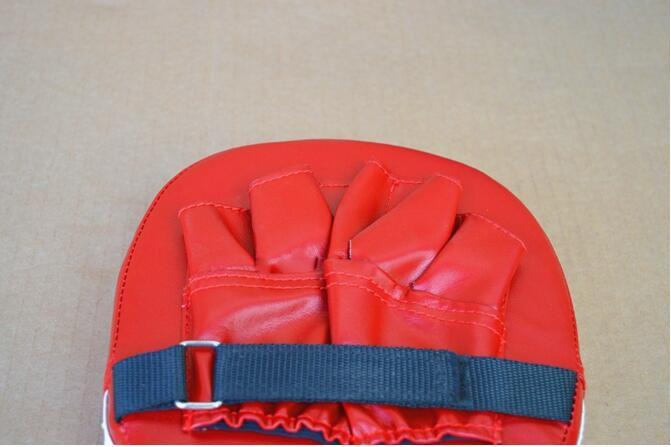 Almofada de Boxe preto Treinamento Mitt Foco Alvo Punch Pad Luva Karate Muay Muay Kick Kit Preto e Vermelho