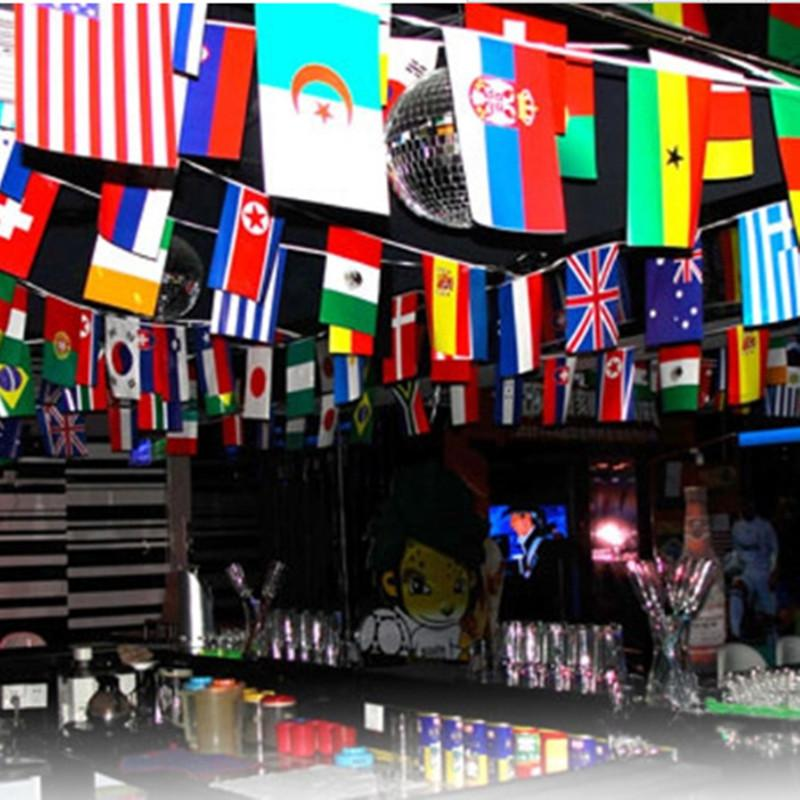 2018 wholesale 32 flags from all over the world for wedding celebration decorations christmas decoration banner for party decor from asite 3451 dhgate - Christmas Around The World Decorations For A Party