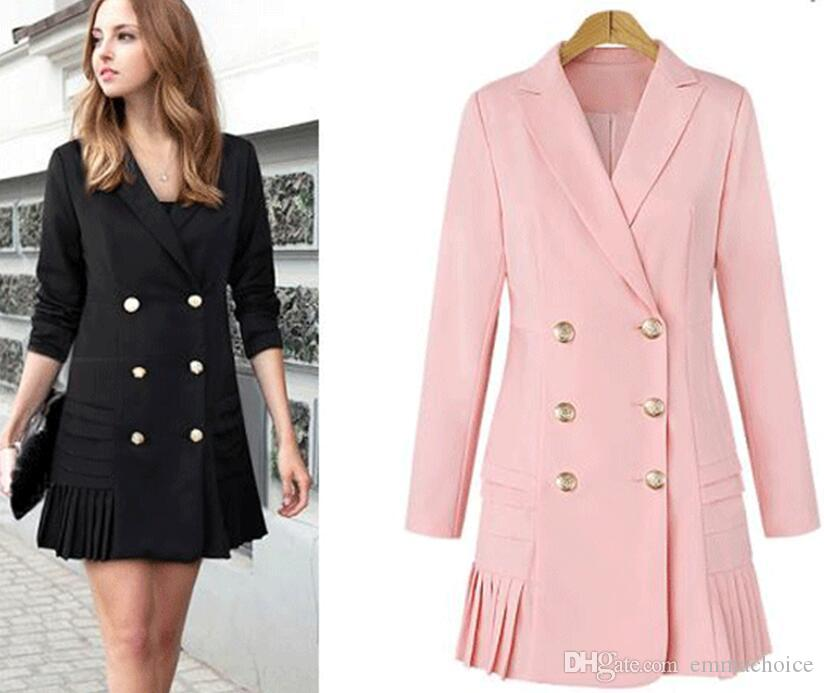 2018 Fall Winter Long Cashmere Coats Women 2017 European And ...