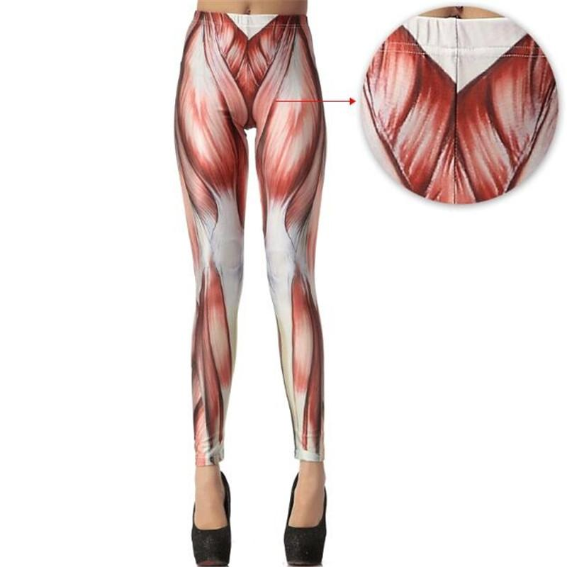 2018 Wholesale Fashion Muscles Patterned Women Leggings Sexy Girls