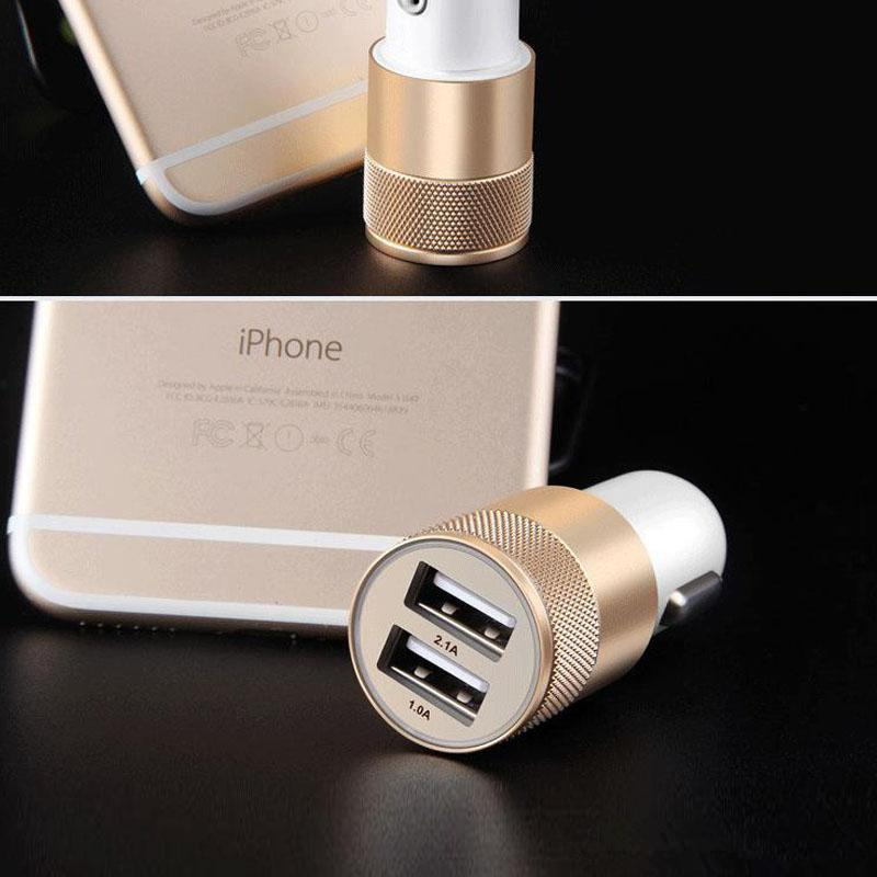 Micro Auto Universal 2 Port USB Car Charger 1A Mini Car Charger Adapter 5V/1A/2.0A/2.1A