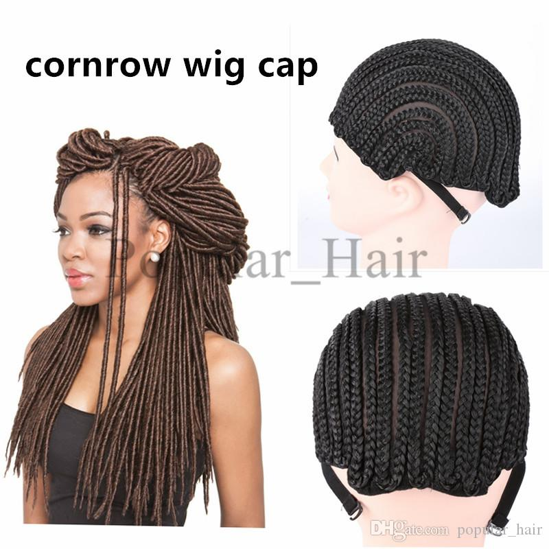 Black Cornrow Wig Caps For Making Wigs Weaving Cap Crochet Braids Wig Cap  With Adjustable Strap Lace Wig Cap Net Liner Glueless Hair Wig Caps For  Lace Wigs ... 4e2055cd4870