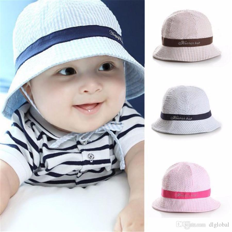 4c1f2afb48fd Fashion Toddler Baby Boy Unisex Baby Girl Solid Sun Cap Beach Bucket Cute Sun  Hat Summer Baby Hat Cap Sun Hat Online with  12.25 Piece on Dlglobal s  Store ...
