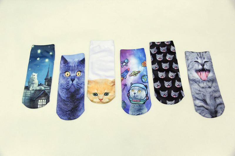 Frauen Socken Mode Heißer Frühling Herbst Sommer Knöchel 3D Prints Socken Die Kunst Abstrakte Malerei Muster Baumwolle Socken Retro Harajuku Straße DW08