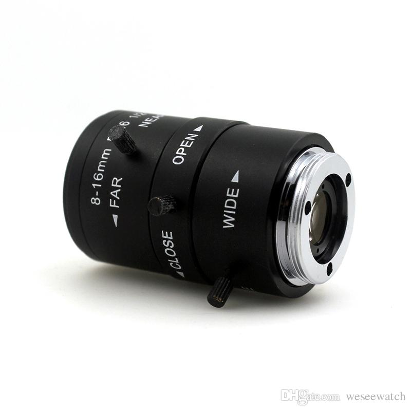 F1.6 1/2 8-16mm LENS C Mount Mega Pixel HD Industrial lens Vari-Focal Manual Iris CCTV Lens For CCTV Camera