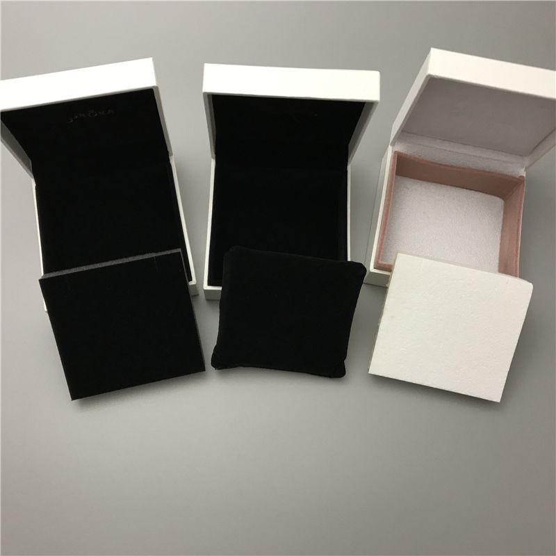 DHL o EMS Gratis 3 Paquete de Caja de Papel Diferente Para Pan Charm Grano Collar Pendientes Anillo Pulsera Brazalete Colgante Joyería Embalaje Pantalla