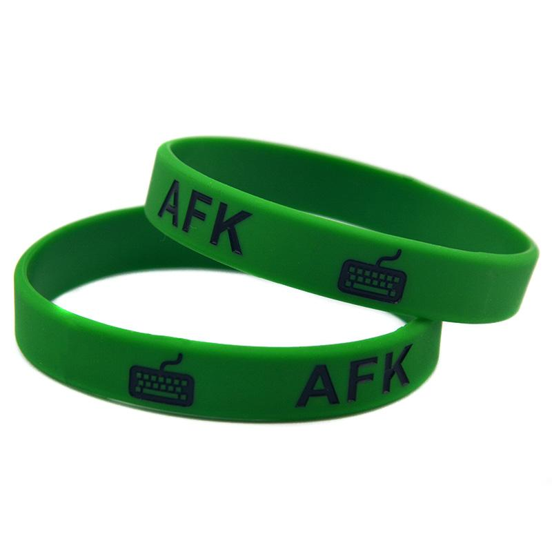 Wholesale League Of Legend Skill Mix Design AFK NOOB Feeder Silicone Wristband Bracelet For Gamer Gift