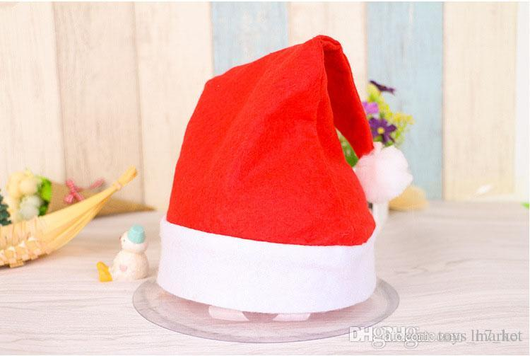 d89f02f8c1045 Christmas Cap Hat Cute Adults X Mas Party Cosplay Hats Thick Ultra Soft  Plush Santa Claus Christmas Holiday Hat Christmas Decorations Kids Party  Favors Kids ...
