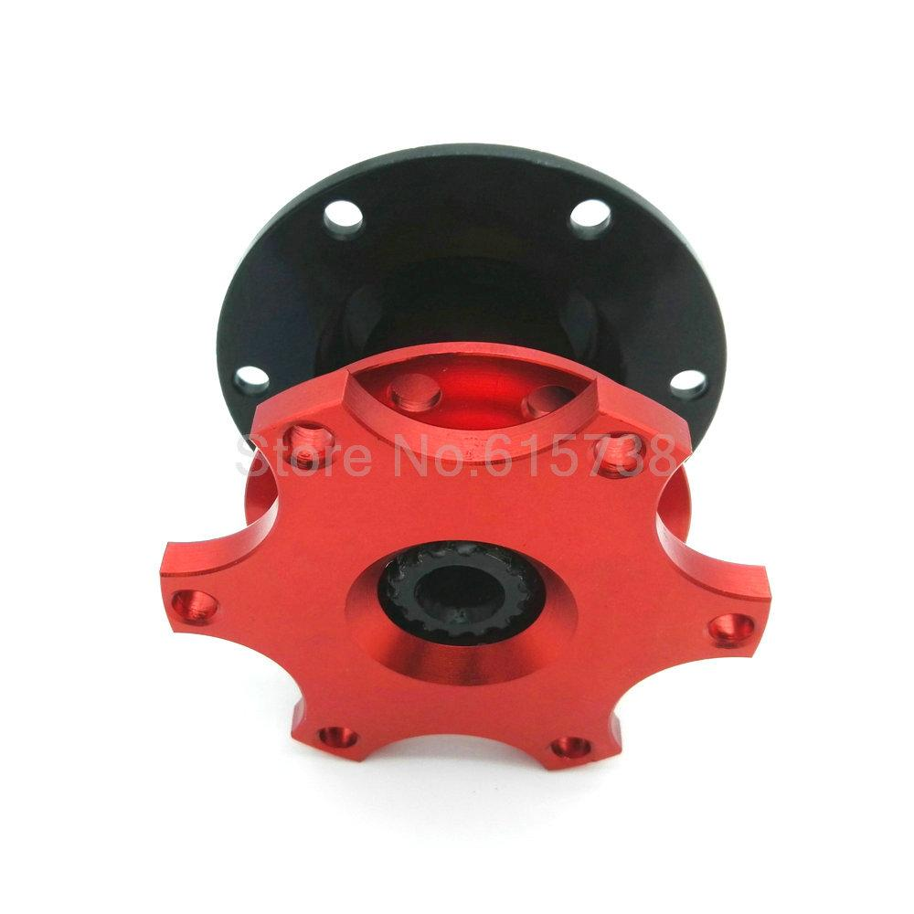 Car red Steering Wheel Quick Release HUB Racing NEW Adapter Snap Off Boss kit Universal