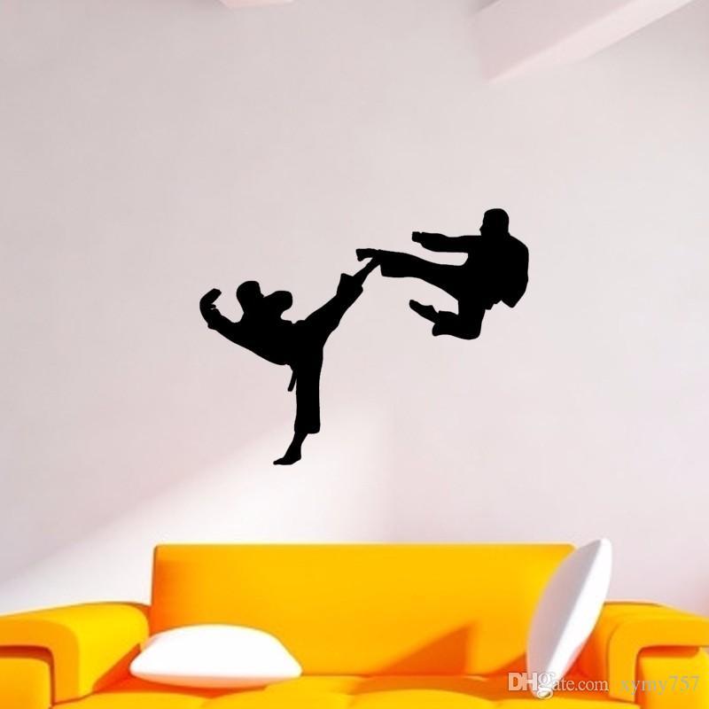 Hot Sale Karate Dojo Martial Arts Taekwondo Pattern Vinyl Wall Sticker Decal For Home Decoration Diy