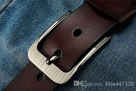 Cinture di marca della cinghia di modo delle cinghie del progettista 2017 gli uomini di cuoio degli uomini e delle donne di cuoio di alta qualità cinture dell'ago della cinghia di vita