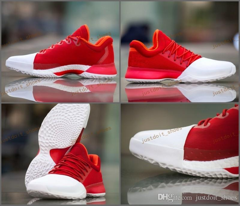 James Harden Kid Shoes: 2017 New Harden Vol. 1 Home Mens Basketball Shoes Red