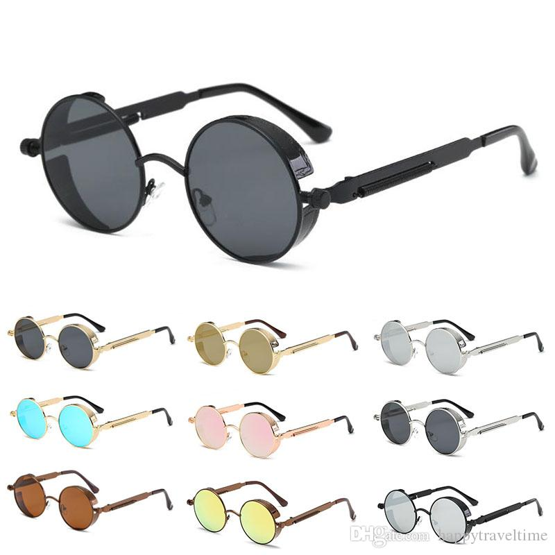 42493ec780 Men S Women S Vintage Polarized Steampunk Sunglasses Fashion Round Mirrored  Eyewear NEW Packed In Box Foster Grant Sunglasses Spitfire Sunglasses From  ...
