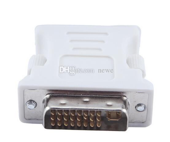 Hot Computers Network Cables DVI-I Male to HD 15 Pin VGA SVGA Female Video Card Monitor LCD Converter Adapter
