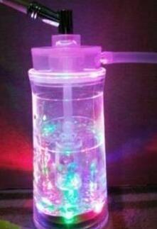 Warstwa Sześć świateł Kolor Akrylowy Garnek Specjalny Filtr Filtr Hookh - Oglass Hoakhah Fajny Szklane Gongs - Platformy olejowe Szklane Bongs Szklany Hookh Palenie