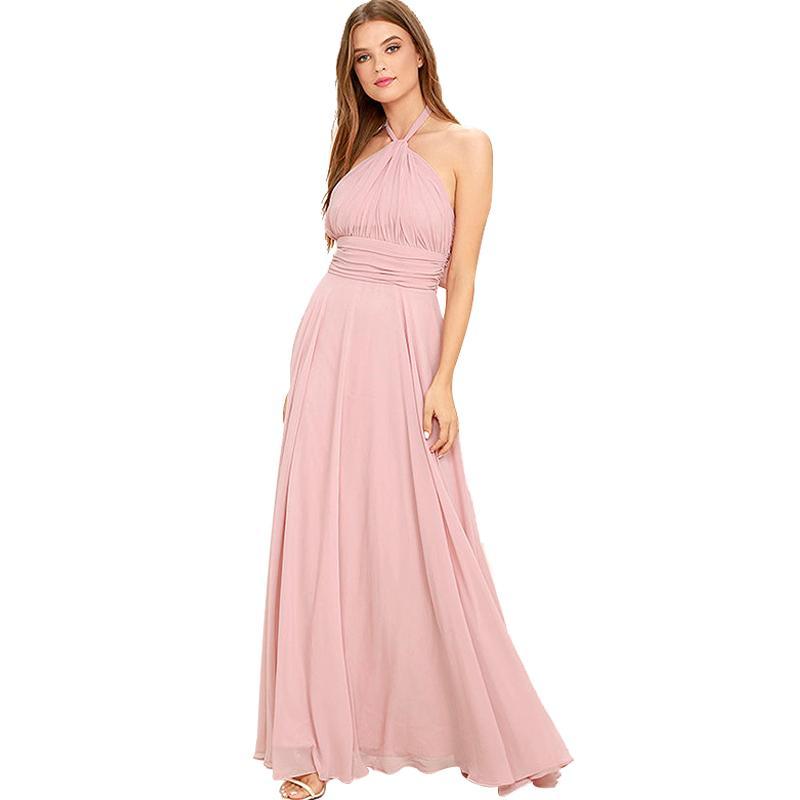 Compre Las Mujeres 2017 Visten El Vestido Largo Atractivo Del ...