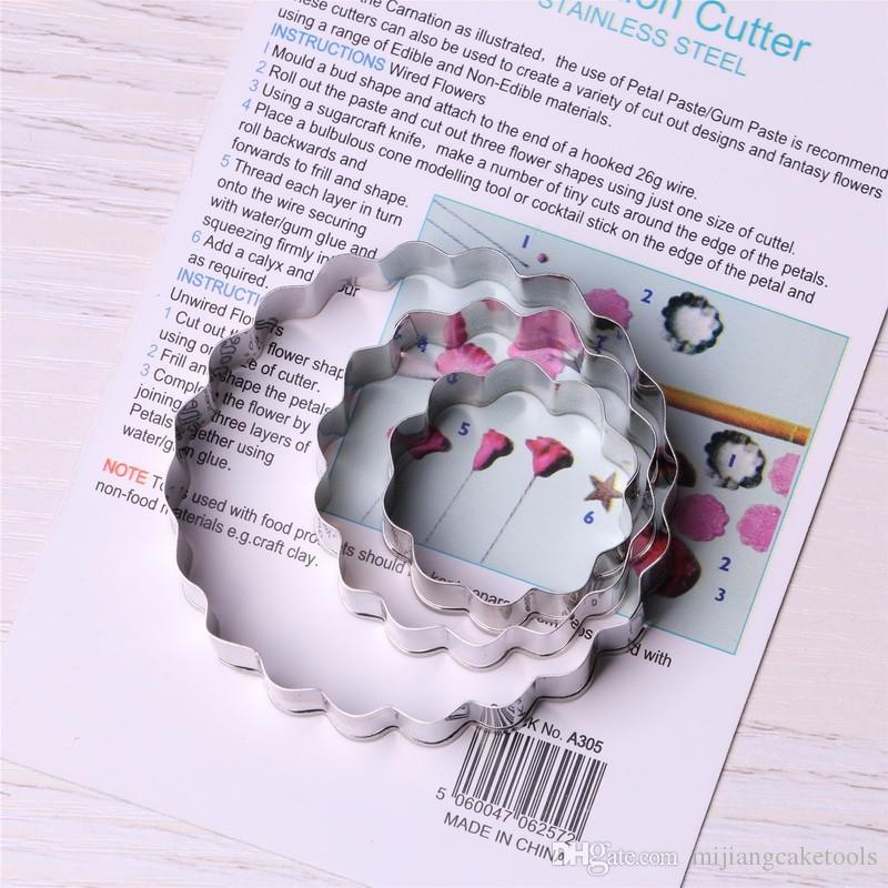 Mijiang Carnation Flower Petal Cutter Slicer Diy Fondant Cookie Cutter Set Stainless Steel Cake Decorating Tools Sugar Pastry Mould A305