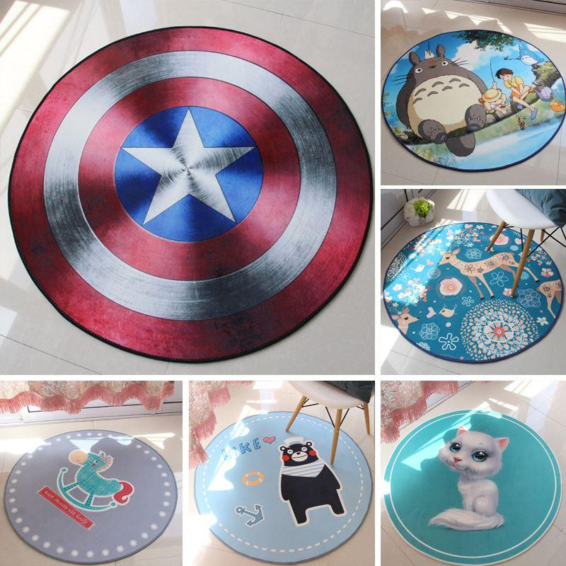 Spring and summer ultra-thin zhuanyi circle carpet computer cushion child carpet circle bed blankets fashion cartoon