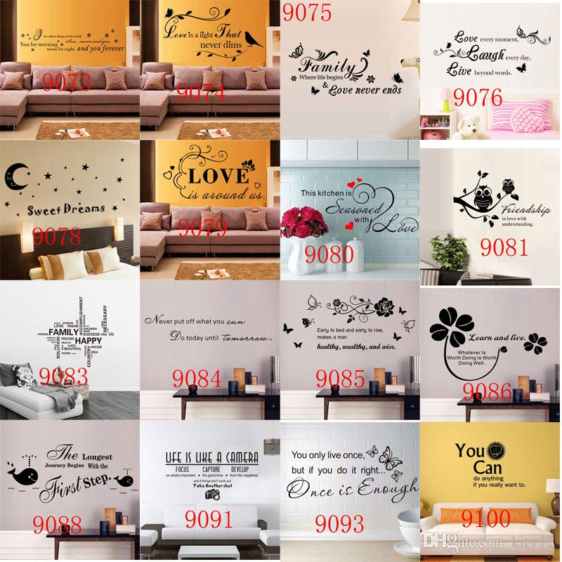 240 styles Nouveau Amovible Lettre De Citation Vin Stickers Muraux Décor À La Maison Stickers Muraux art Mordern Mural Pépinière Salon