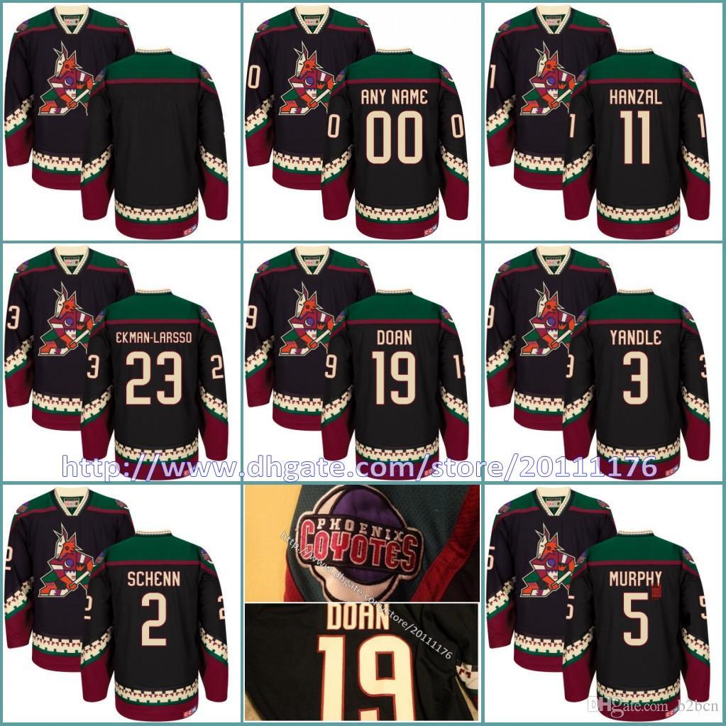 329d68386 2019 Mens Arizona Coyotes Custom Jerseys 3 Keith Yandle 11 Martin Hanzal 19  Shane Doan 23 Oliver Ekman Larsson Black Classic Hockey Jersey From B2bcn