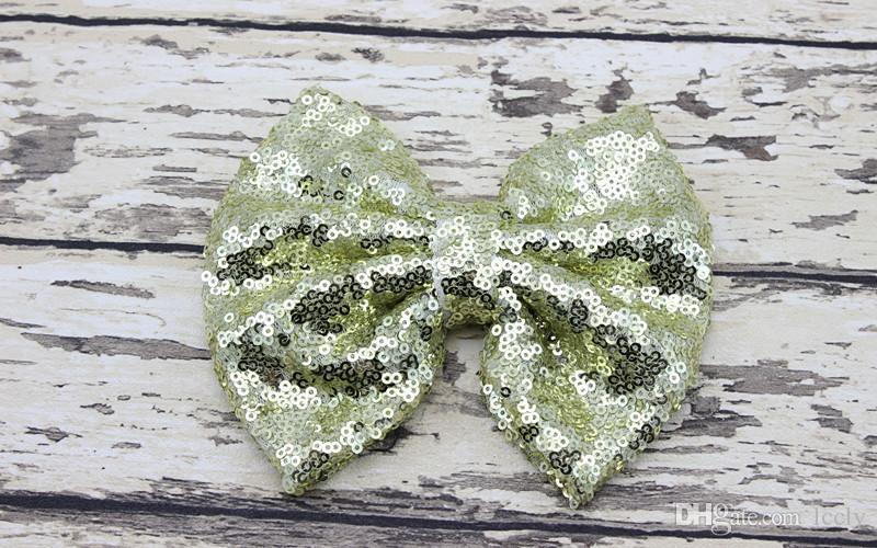 Christmas Kids Girls Hair Bow Sequins Bowknot Hair Clips Holiday Gift For Children Hair Accessories